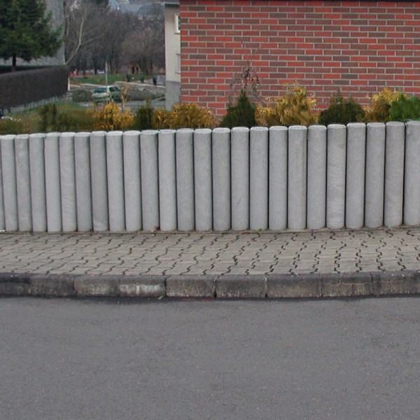 Hollow Palisade without Point Grey 150mm diameter x 1000mm