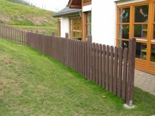Fence Pale with Round End Brown 30mm x 100mm x 800mm