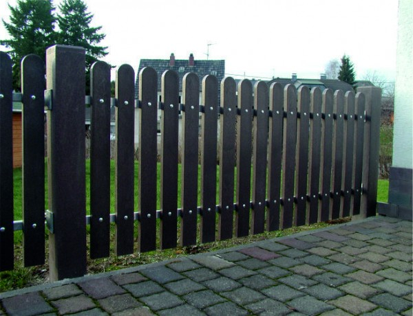 Fence Pale with Round End Brown 30mm x 100mm x 1500mm