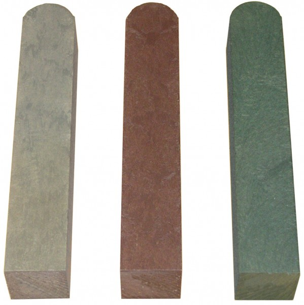 Fence Post with Round End Brown 90mm x 90mm x 1750mm