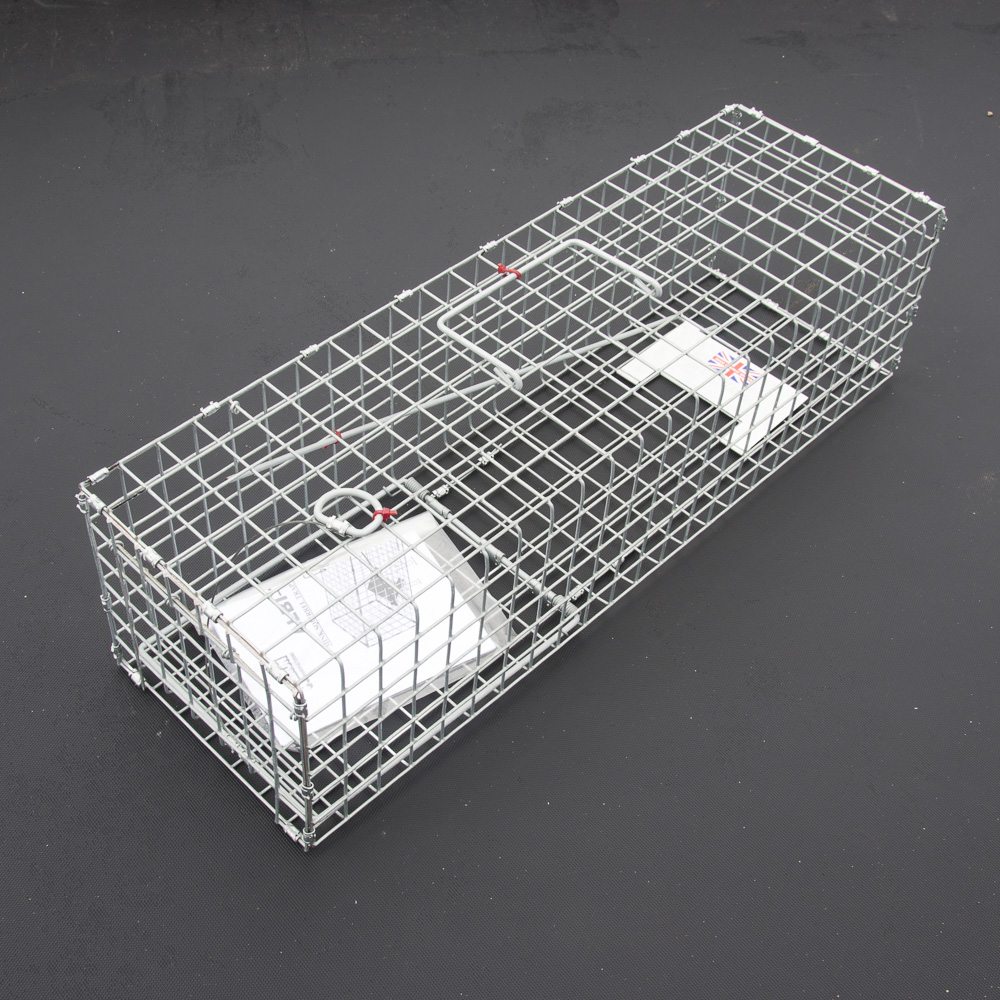 Galvanised Mink Trap 079 175mm x 600mm x 150mm