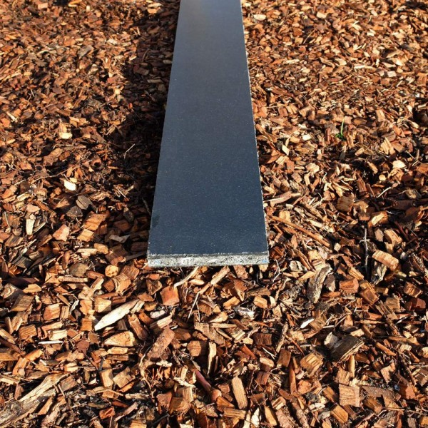Straight cnc cut track board Grey 19mm x 140mm x 1.22m