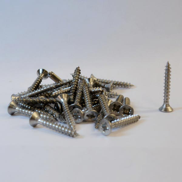 Stainless steel wood screw 3.5mm x 25mm Countersunk