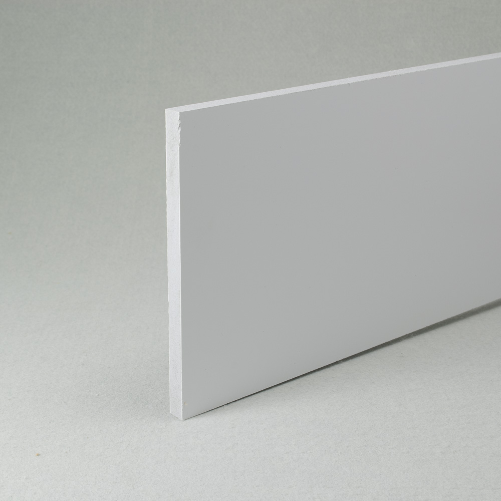 White recycled pvc waterproof construction board 10mm x 1.22m x 0.6m