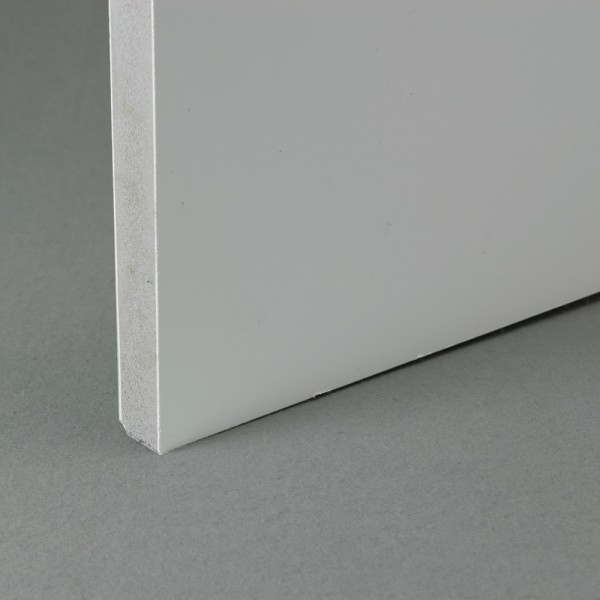 White recycled pvc waterproof contstruction board 18mm x 1.22m x 0.6m