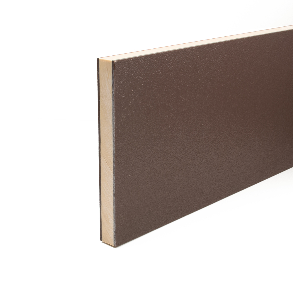 Coextruded HDPE Engraving Board Brown / Cream / Brown 18mm thick