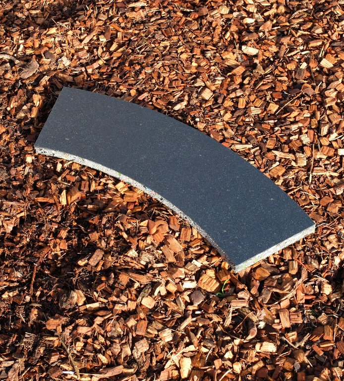 Curved track board: LGB R1 - 19mm x 140mm wide x 600mm radius, 45 degree arc