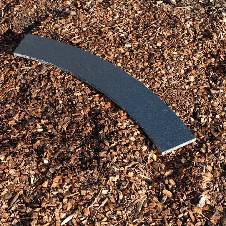 Curved track board: LGB R3 - 19mm x 140mm wide x 1195mm radius, 45 degree arc