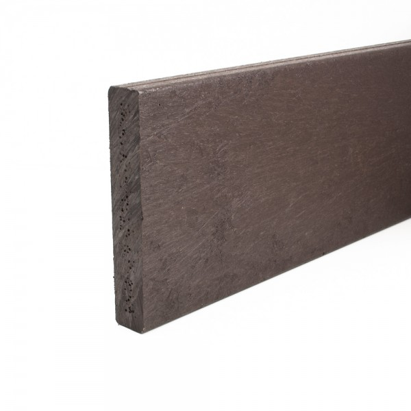 Rigid recycled plastic plank Brown 30mm x 150mm x 3m
