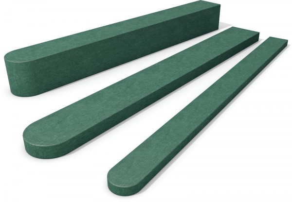 Fence Post with Round End Green 90mm x 90mm x 1750mm