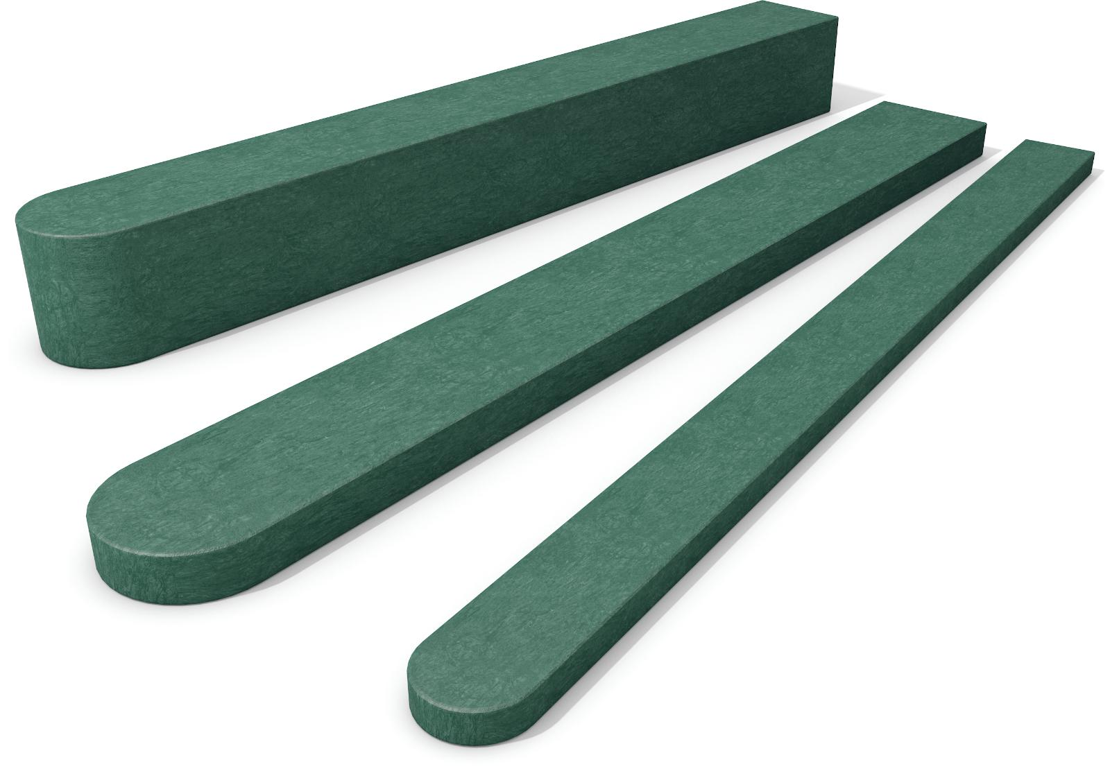 Fence Pale with Round End Green 20mm x 60mm x 1500mm