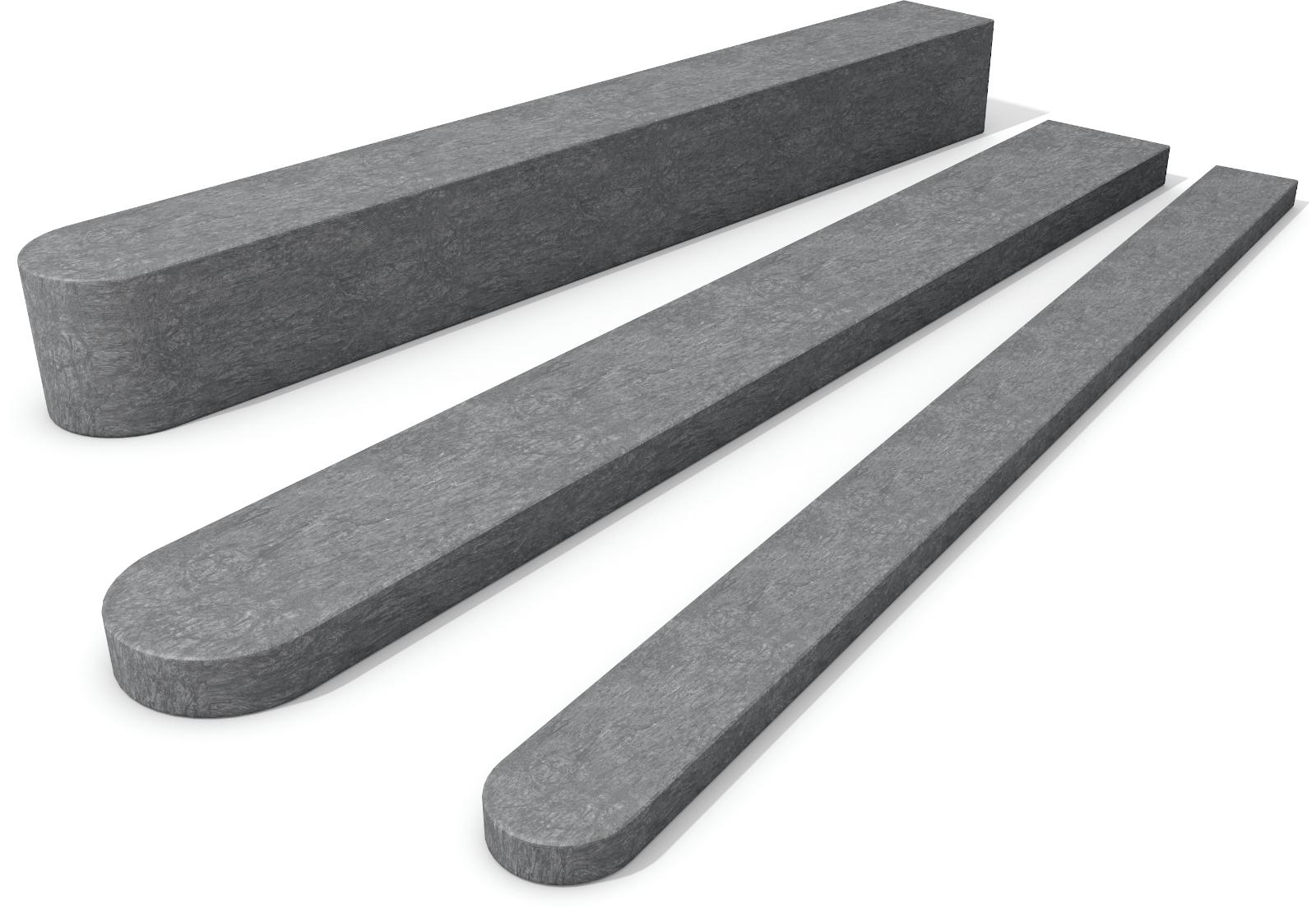 Fence Post with Round End Grey 90mm x 90mm x 1250mm